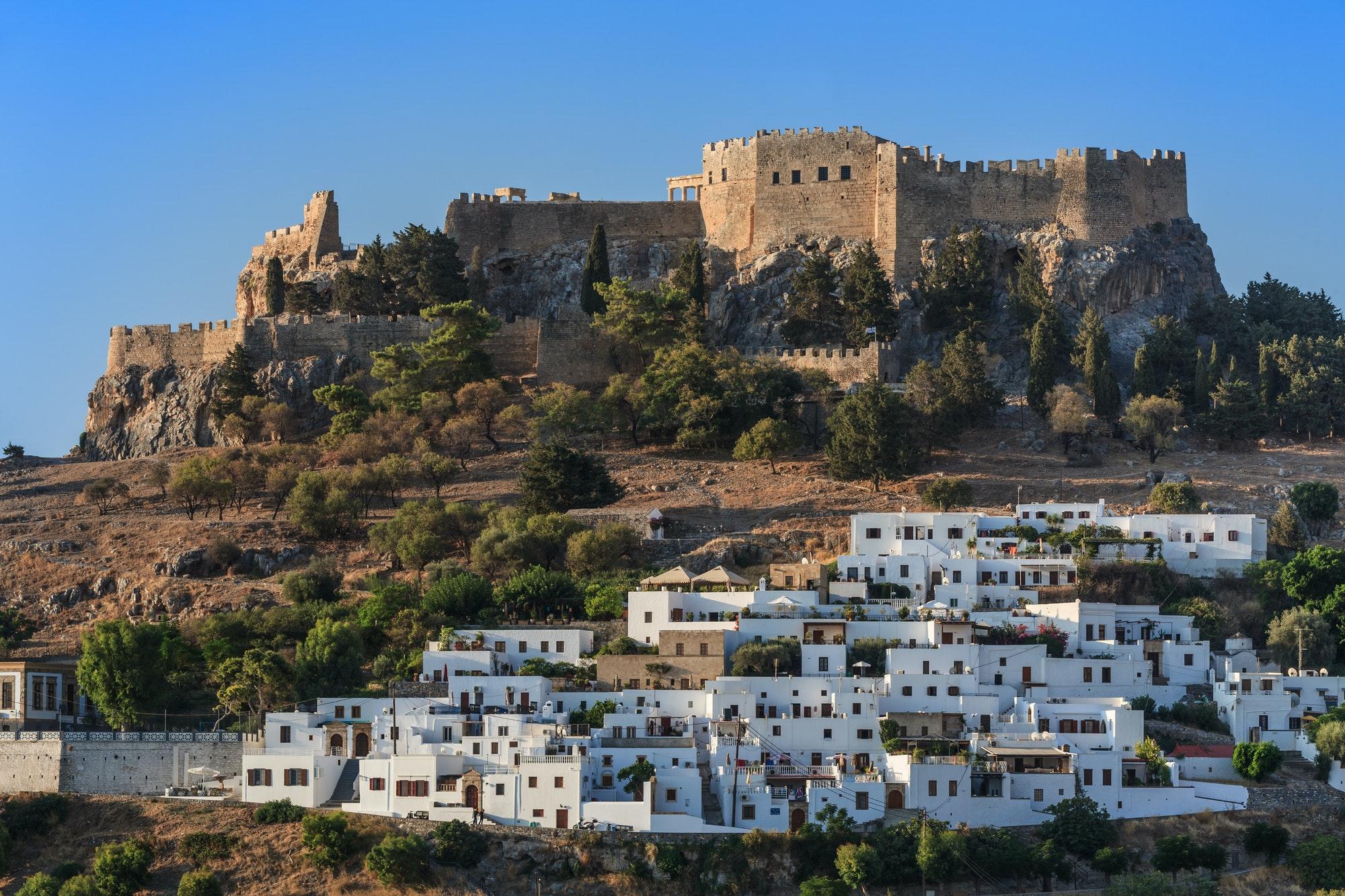 Lindos Castle and village